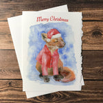 Fox with Hat Christmas Card Set