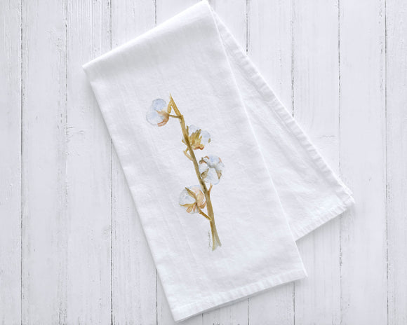 Cotton Branch Tea Towel