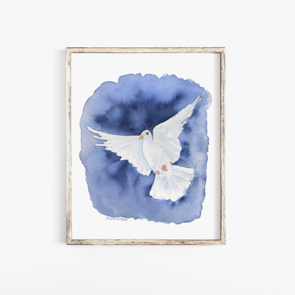 Dove 2 Watercolor Print