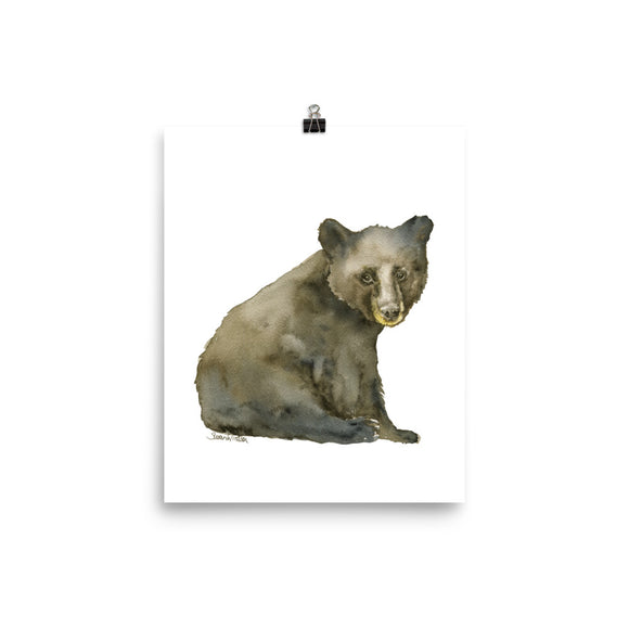 Black Bear Cub 2 Watercolor Fine Art Print