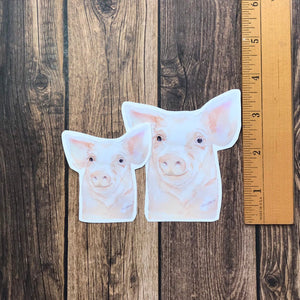 Pig Face Vinyl Sticker