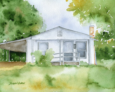 Custom Watercolor House Portrait - Made to Order - Custom Portrait