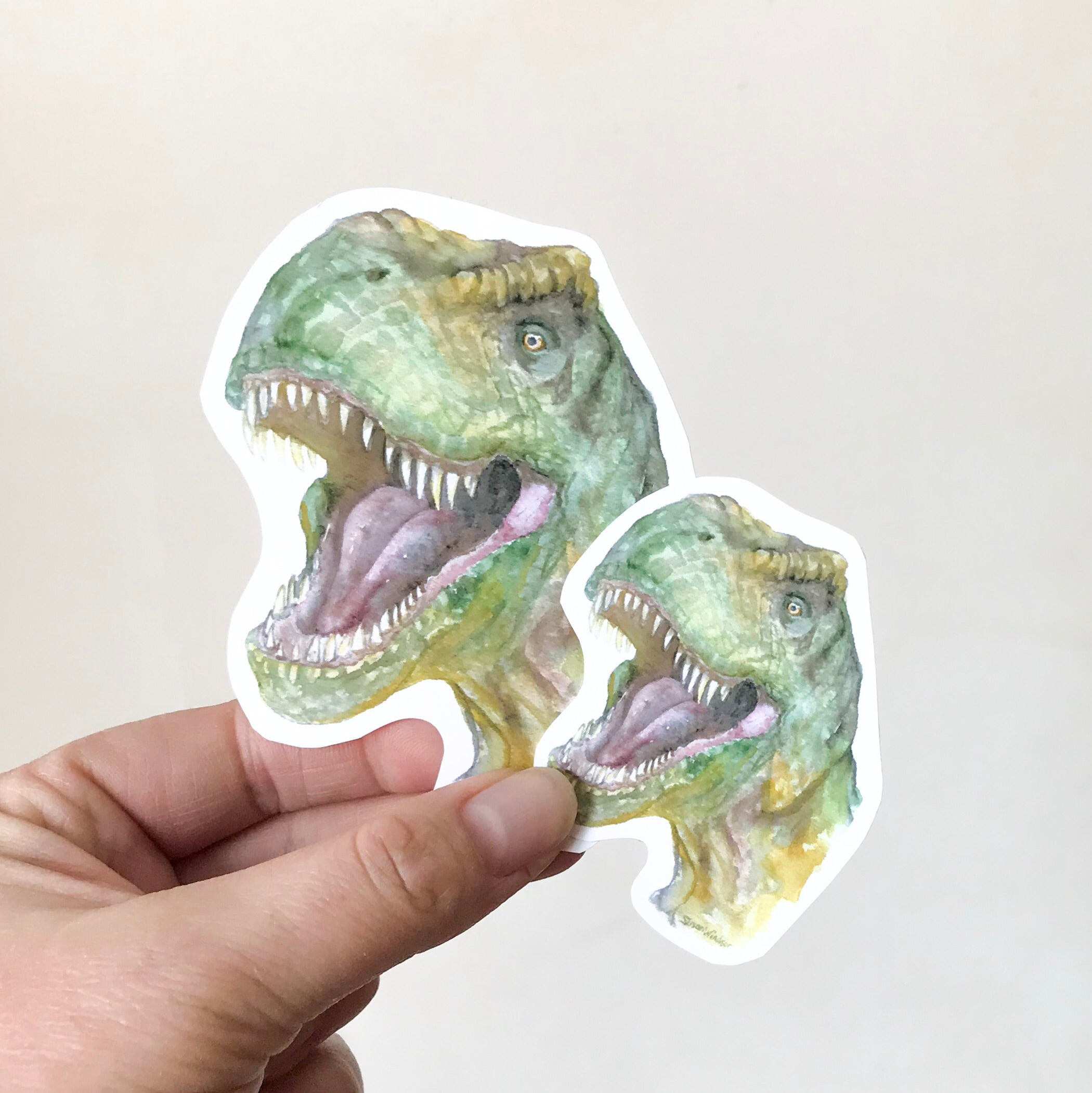T. Rex Watercolor Vinyl Sticker