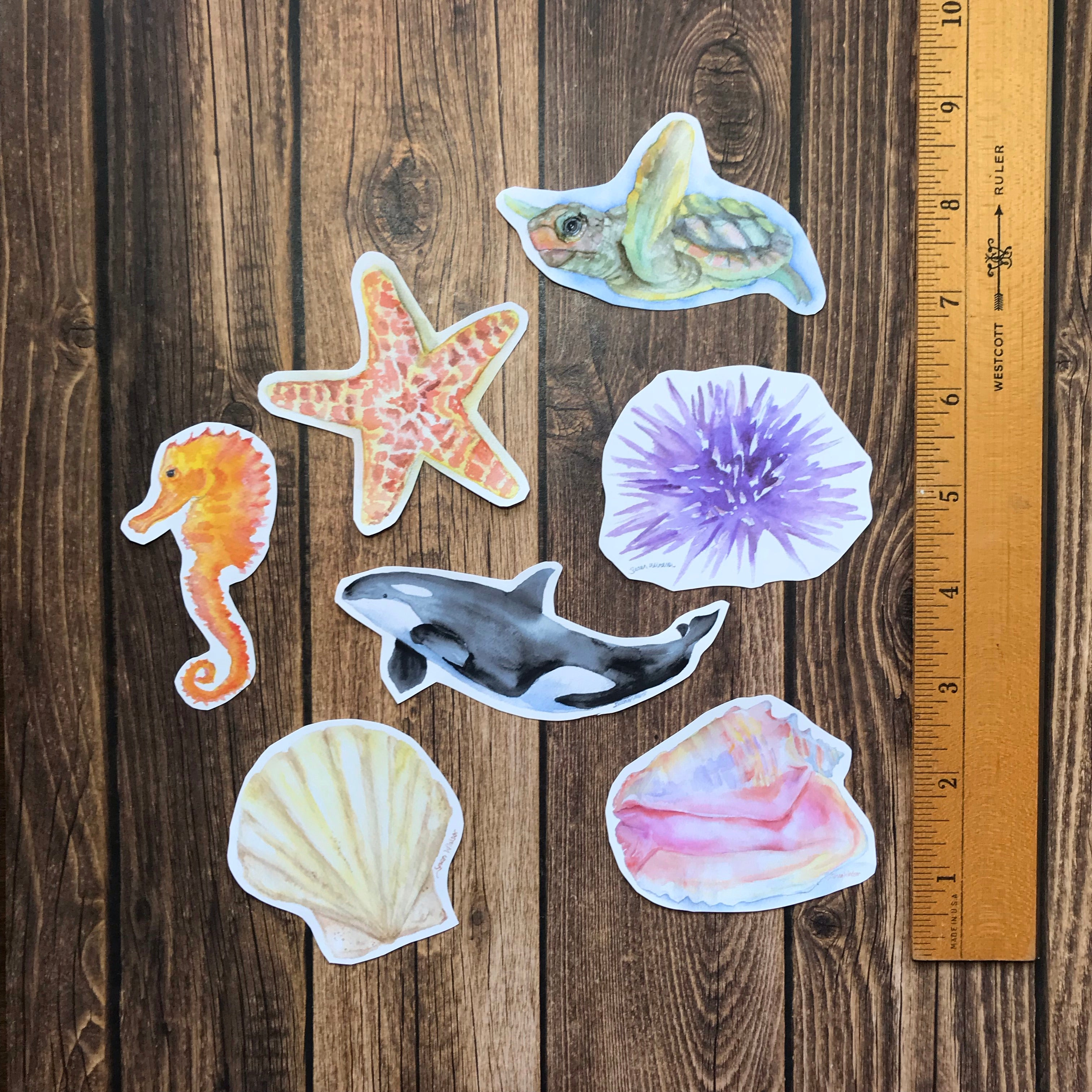 Ocean Creatures Sticker Set