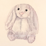Stuffed Animal - Lovie - Custom Watercolor Portrait Painting