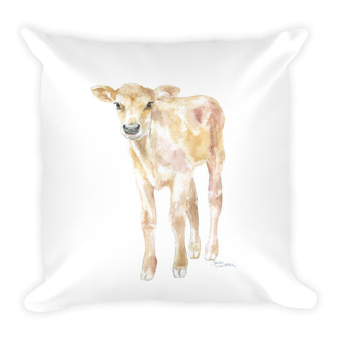 Jersey Calf Watercolor Throw Pillow