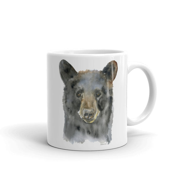 Black Bear Watercolor Mug