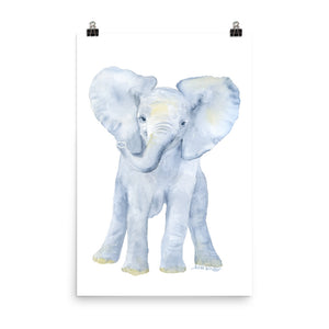 Baby Elephant Watercolor
