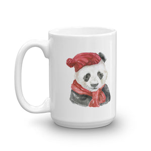 Panda Bear with a Hat and Scarf Mug