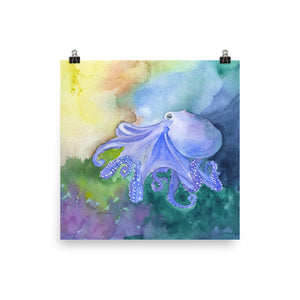 Colorful Octopus Watercolor