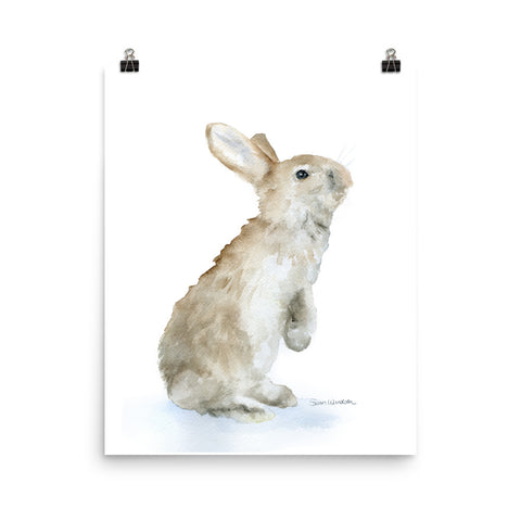 Tan Bunny Rabbit Watercolor