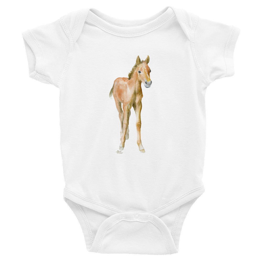 Baby Horse Watercolor Infant Bodysuit