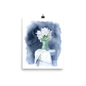 White Peonies Watercolor