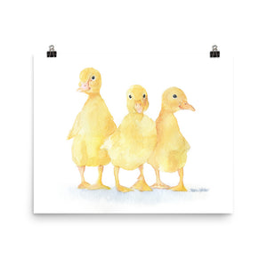 Ducklings Watercolor