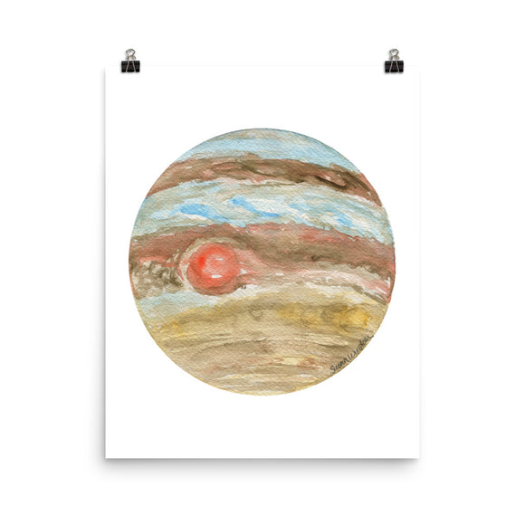 Jupiter Planet Watercolor art print