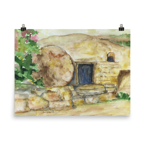 Empty Tomb Easter Watercolor Print