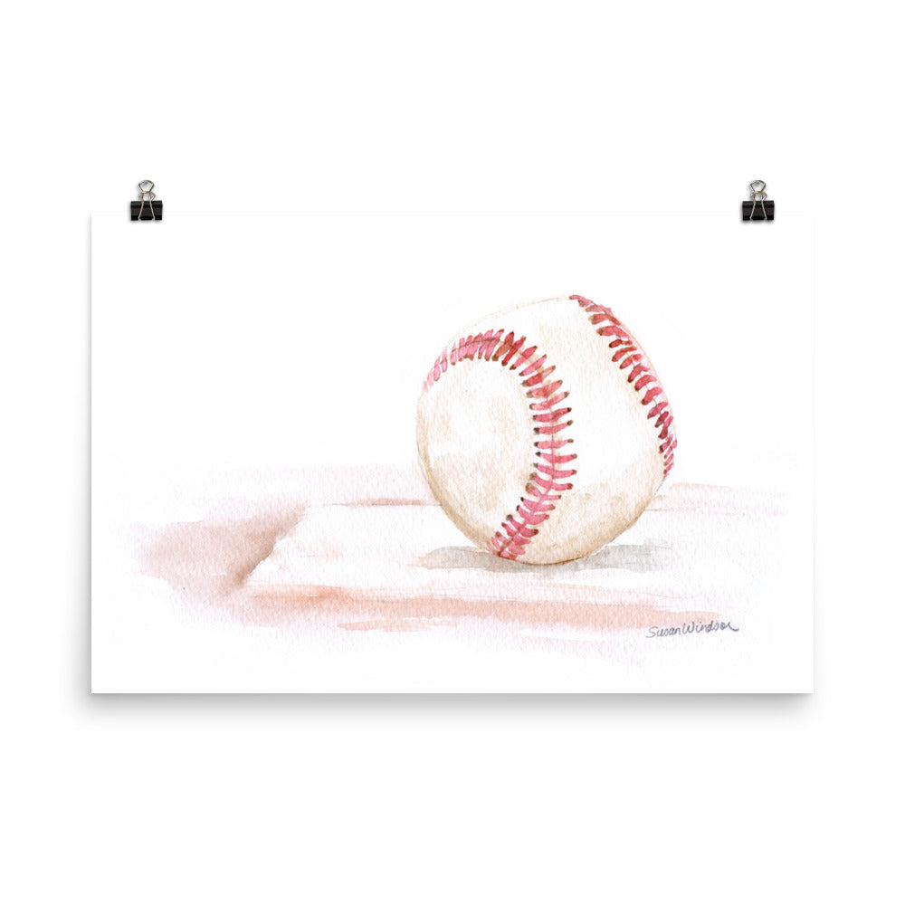 Baseball Watercolor