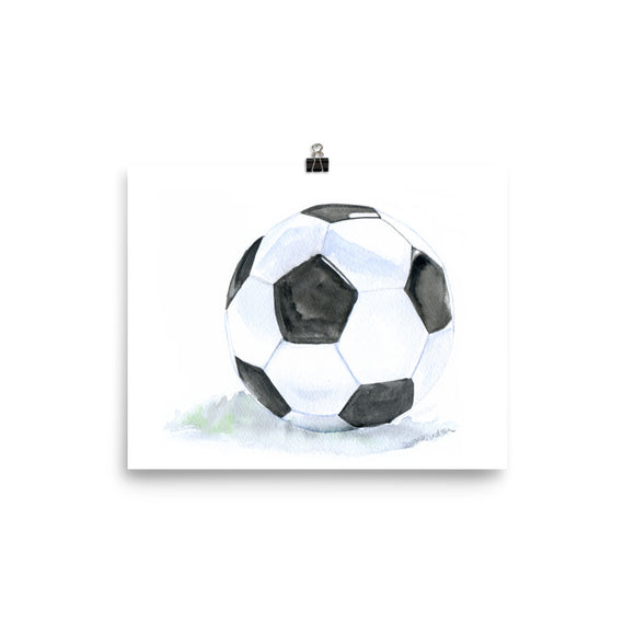 Soccer Ball Watercolor