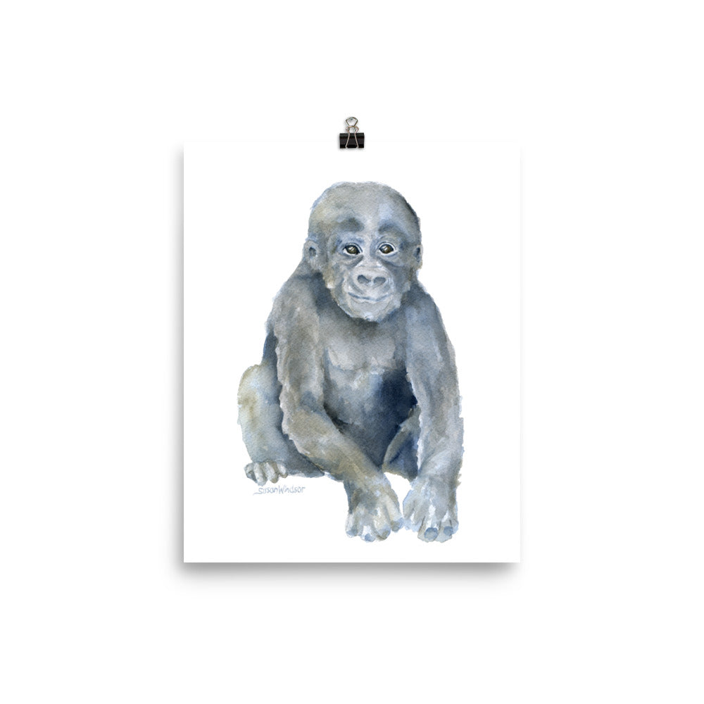 Baby Gorilla Watercolor