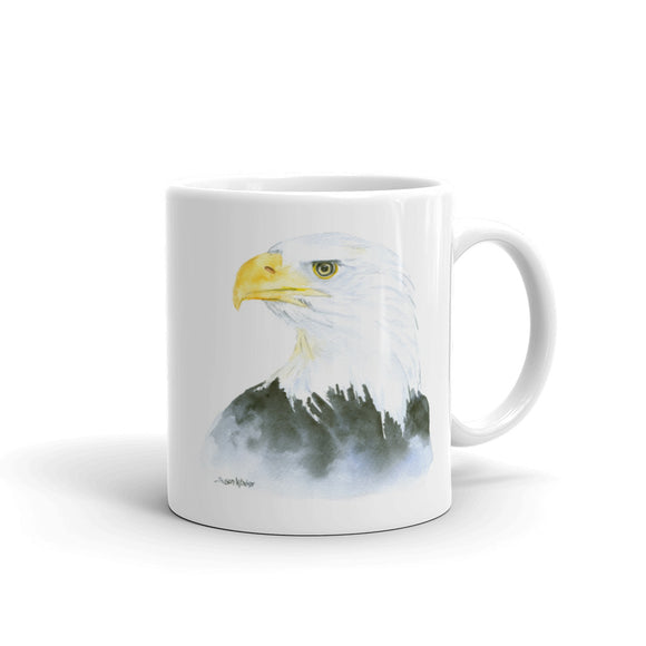 Eagle Watercolor Coffee Mug