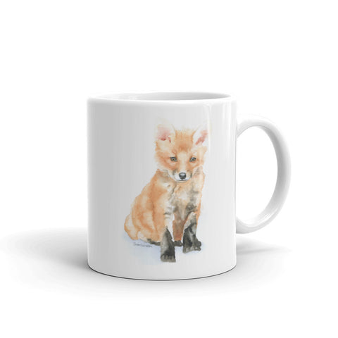 Baby Fox Watercolor Coffee Mug
