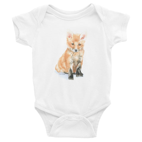 Baby Fox Watercolor Infant Bodysuit