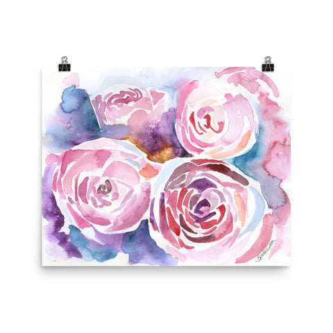 Peonies Watercolor Print