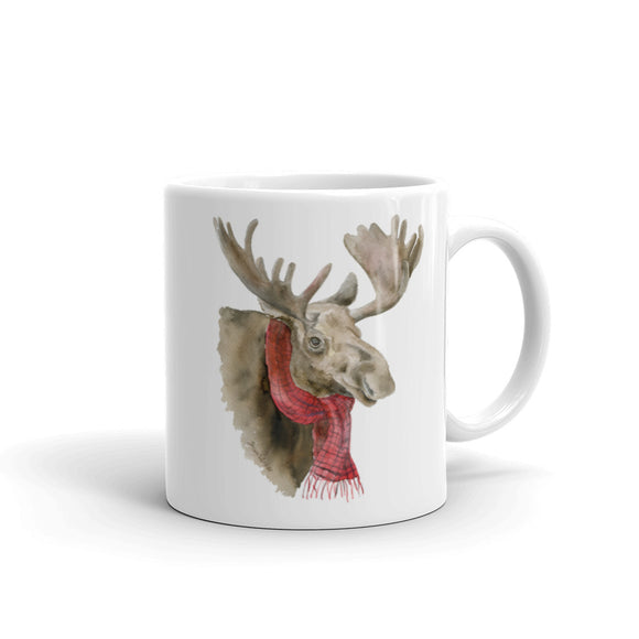 Moose with a Scarf Mug