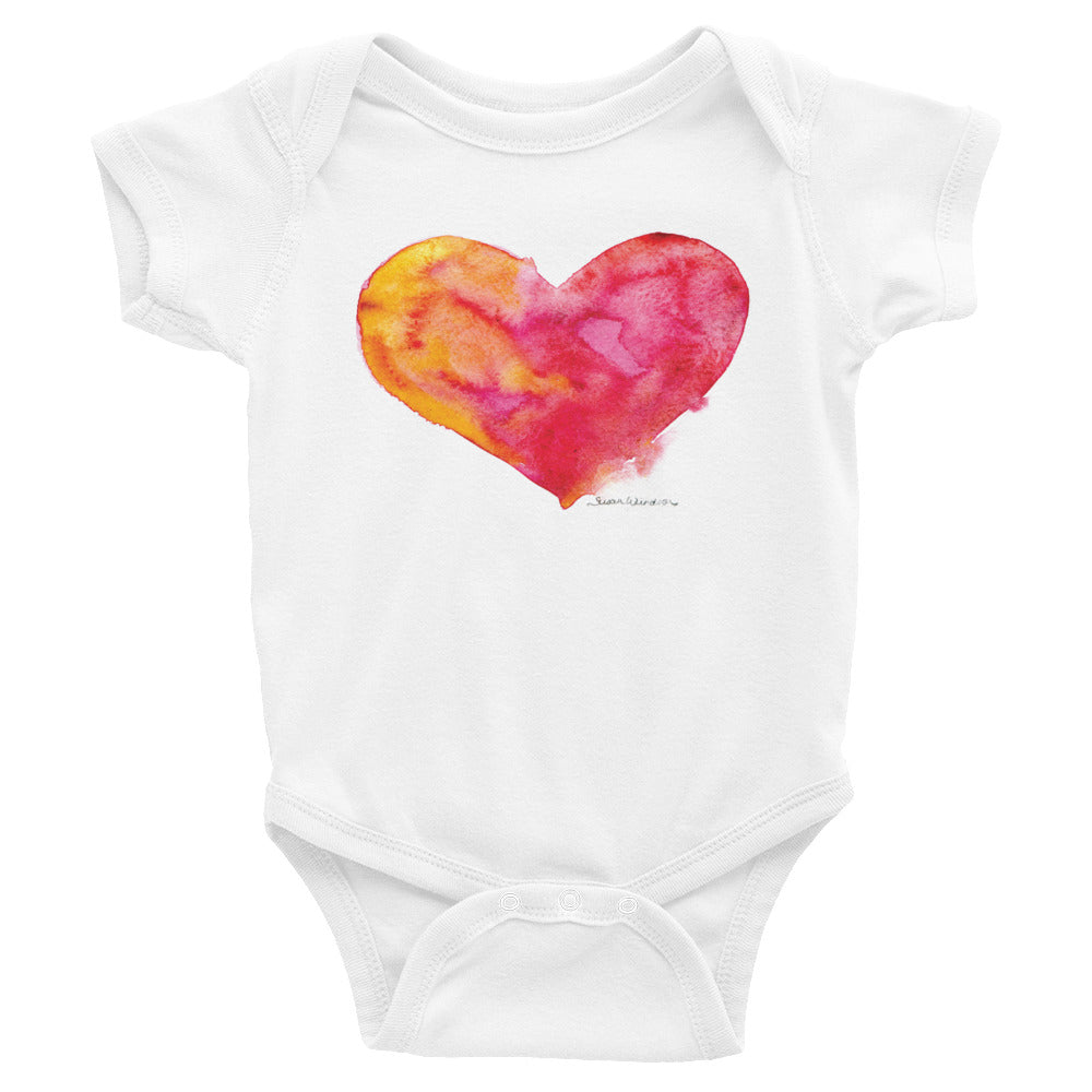 Heart Watercolor Infant Bodysuit