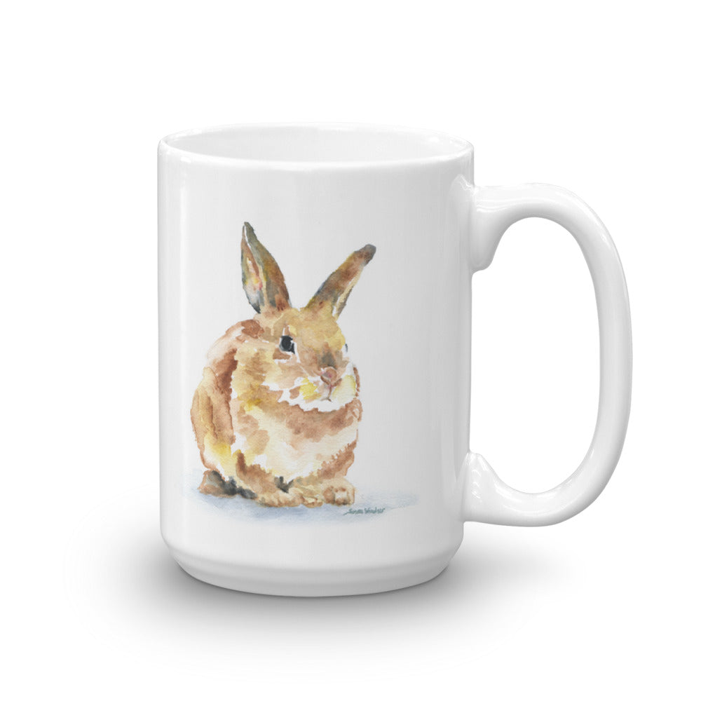 Bunny Rabbit Watercolor Coffee Mug
