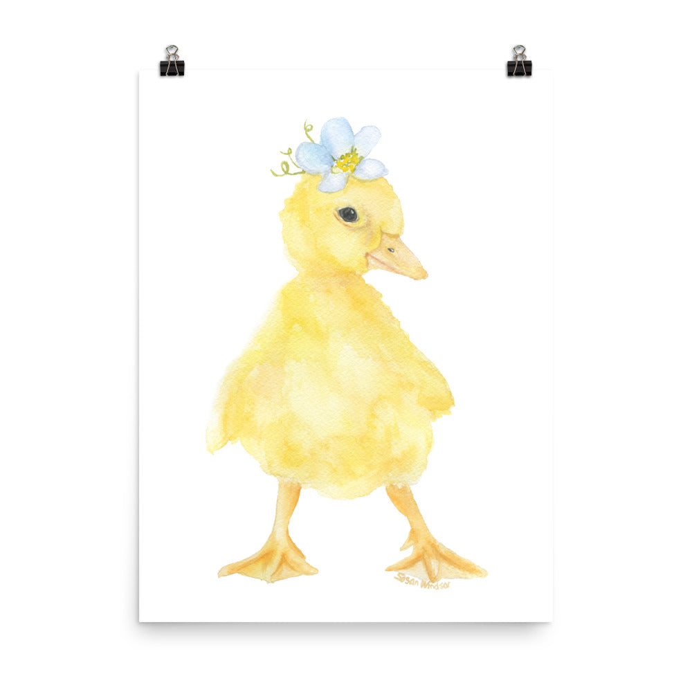 Duckling Floral Watercolor