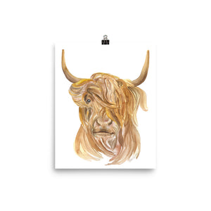 Highland Cow Watercolor