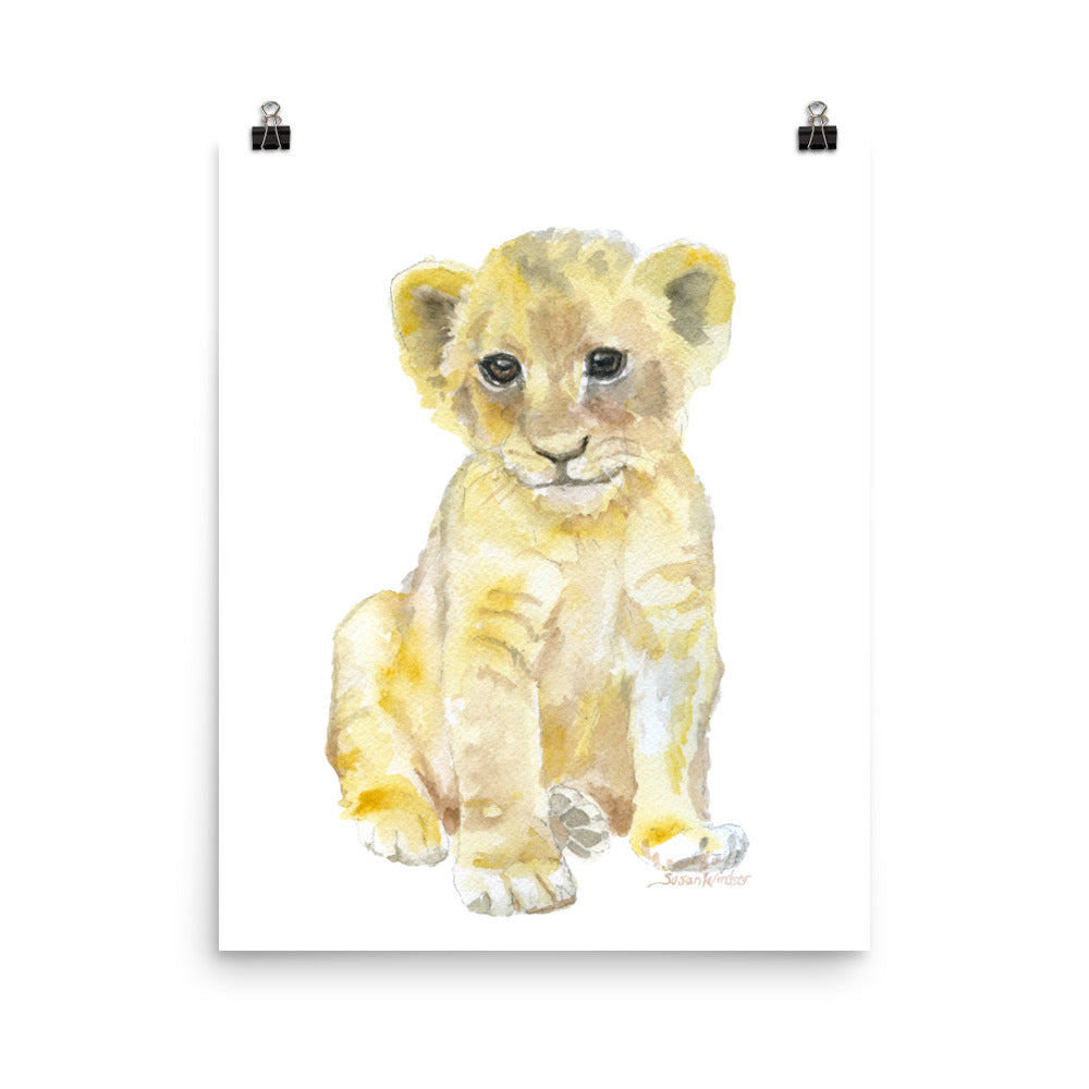 Lion Cub Watercolor