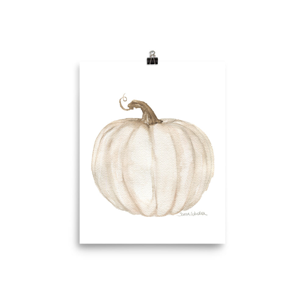 White Pumpkin with sepia finish
