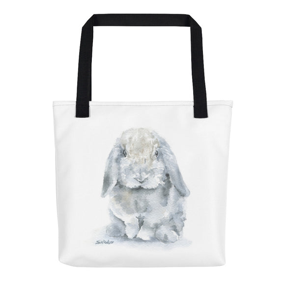 Gray Lop Rabbit Tote Bag