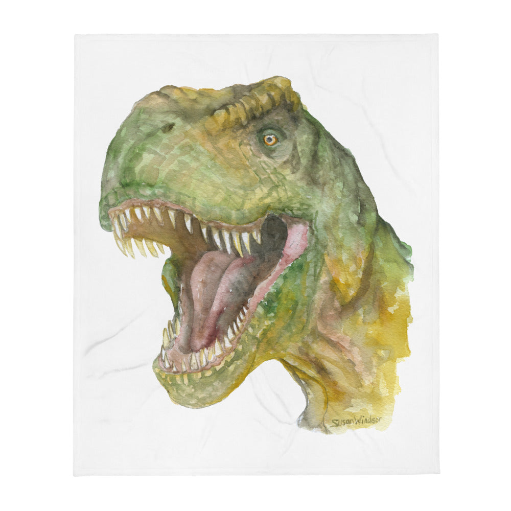 T. rex Dinosaur Watercolor Throw blanket - 50×60