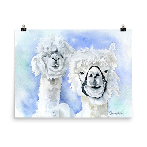 Alpacas Watercolor Print