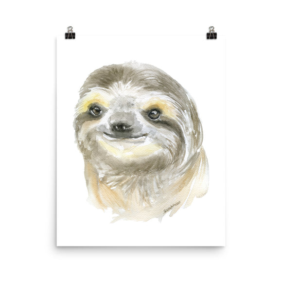Sloth Face watercolor