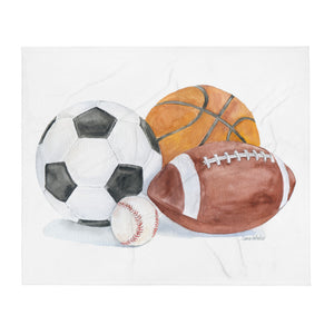 Sports Balls Throw Blanket