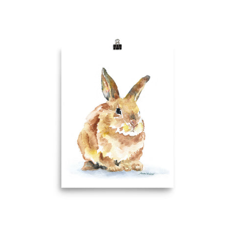 Bunny Rabbit Watercolor