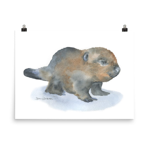 Baby Beaver Watercolor