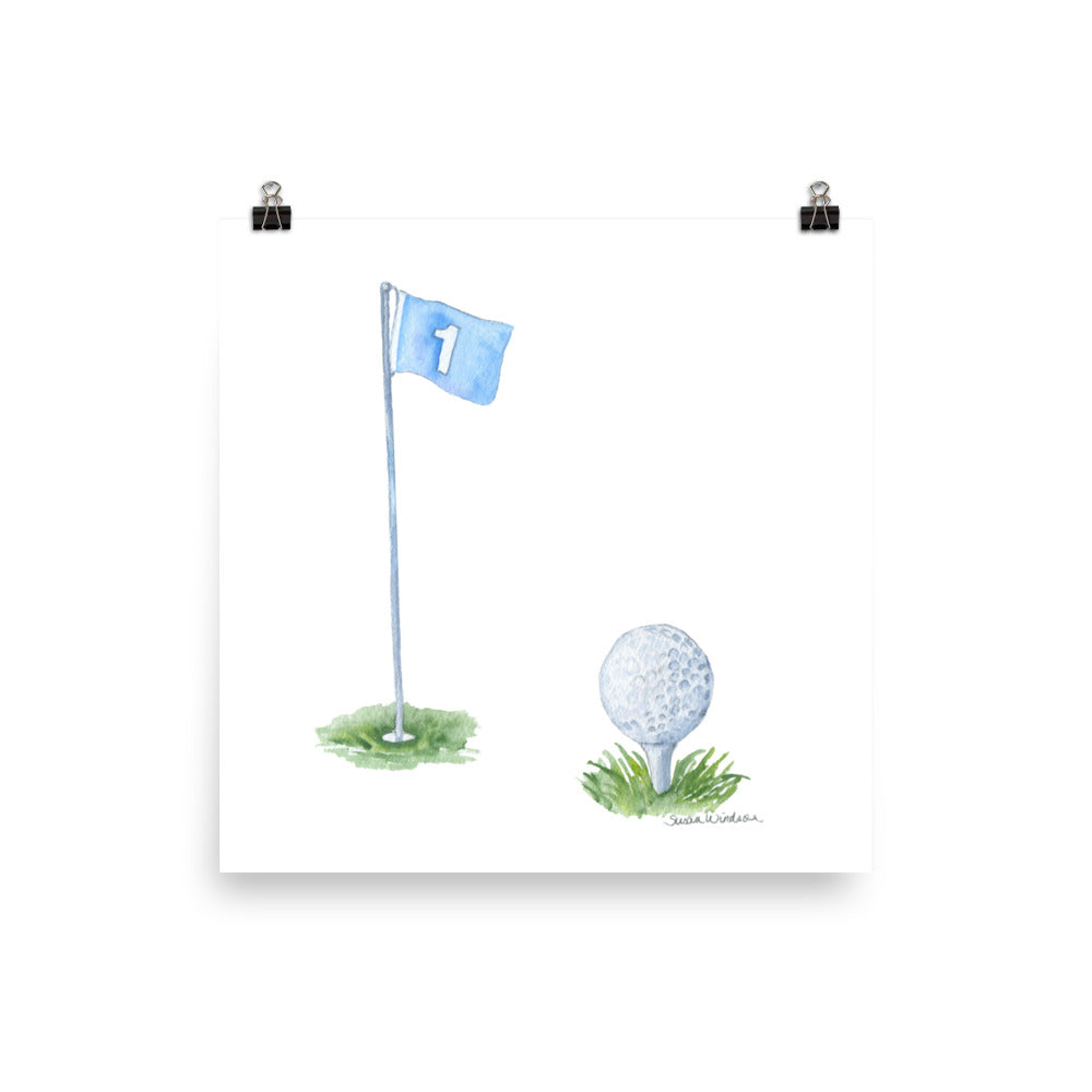 Golf Ball Watercolor