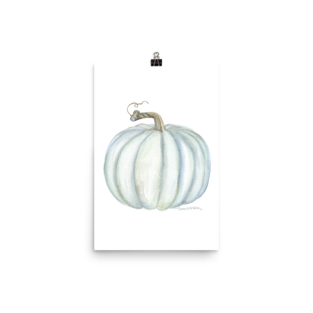 Gray Pumpkin Watercolor