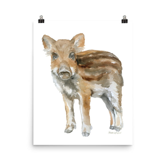 Baby Boar Watercolor