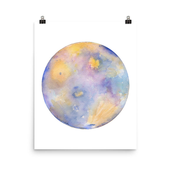 Mercury Planet Watercolor art print