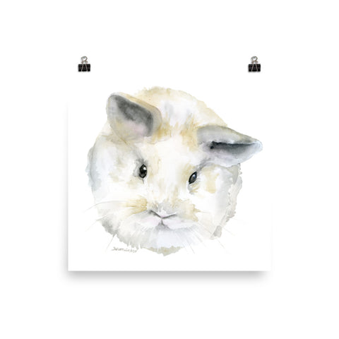 Fluffy Bunny Baby Watercolor