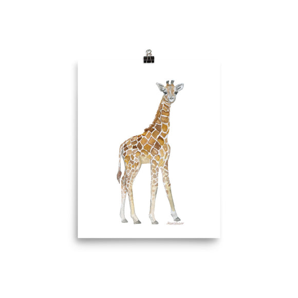 Baby Giraffe Watercolor