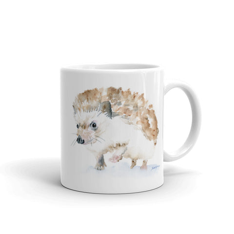 Hedgehog Watercolor Coffee Mug