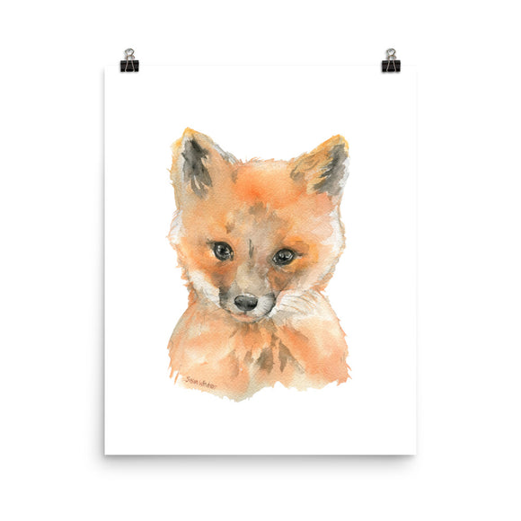 Baby Fox Face Watercolor