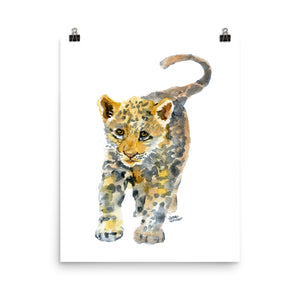 Baby Jaguar Watercolor Print